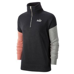 Nike Black Colorblock 1/4 Zip Pullover